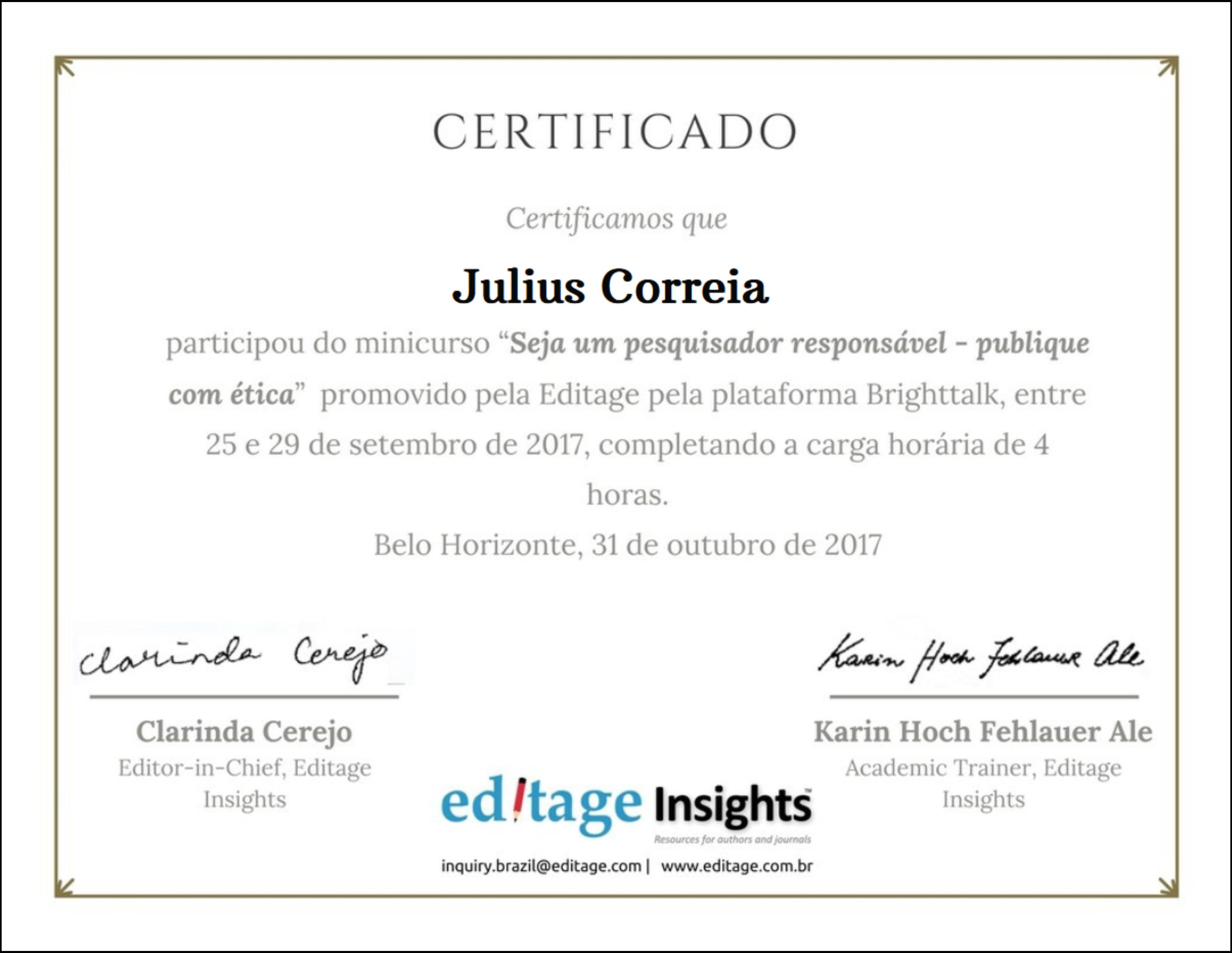 Editage Certificado