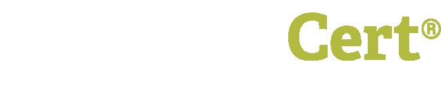 Simple Cert logo white.