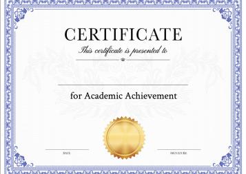 Academic Achievement Certificate Template