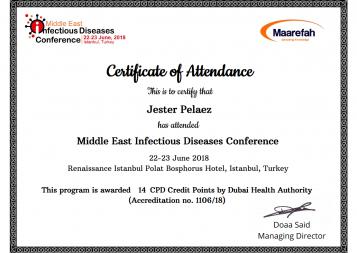 Certificate of Attendance.