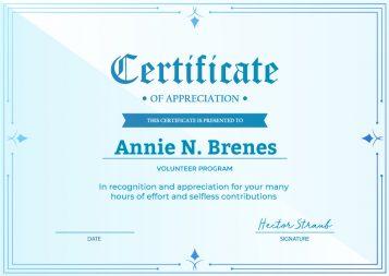 SimpleCert-Church-Volunteer-Certificate