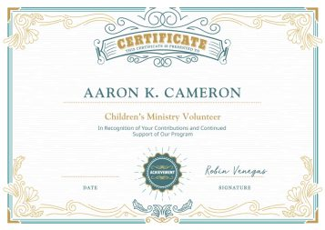 SimpleCert-Youth-Minister-Certificate